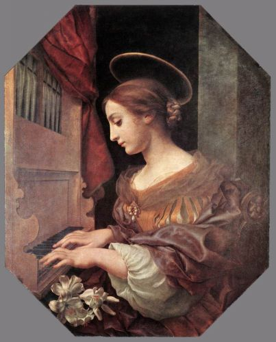 St Cecilia at the Organ by Carlo Dolci