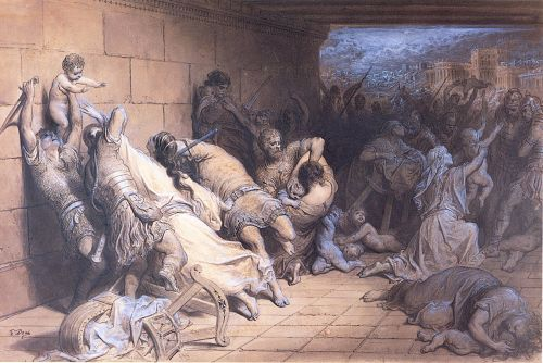 The Martyrdom of the Holy Innocents by Gustave Doré