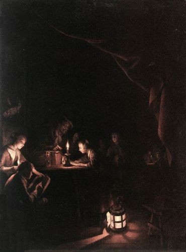 The Evening School by Gerrit Dou