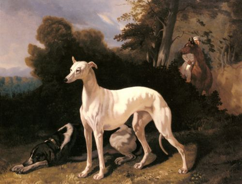 A Greyhound In An Extensive Landscape by Alfred de Dreux