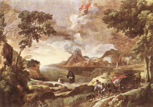 Landscape with St Augustine and the Mystery by Gaspard Dughet