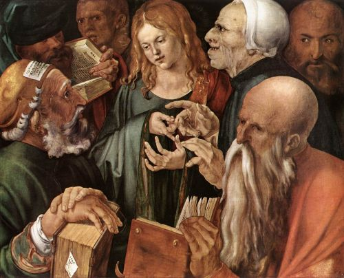 Christ Among the Doctors by Albrecht Dürer