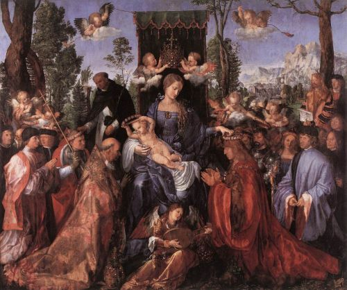 Feast of the Rose Garlands by Albrecht Dürer