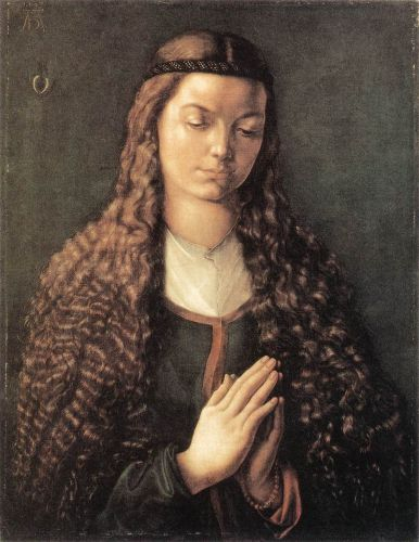 Portrait of a Young Fürleger with Loose Hair by Albrecht Dürer