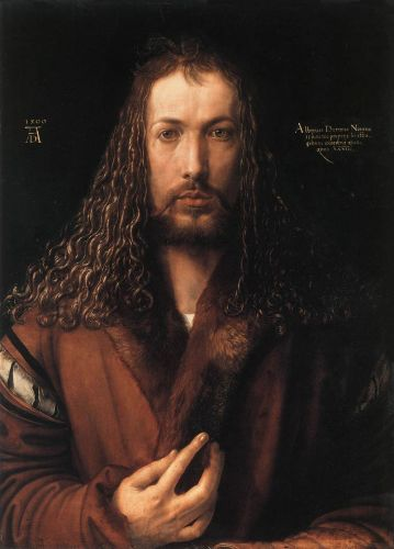 Self-Portrait in a Fur-Collared Robe by Albrecht Dürer