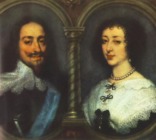 Charles I of England and Henrietta of France by Anthony van Dyck