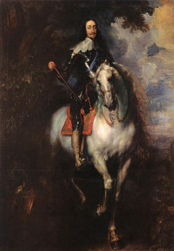 Equestrian Portrait of Charles I, King of England by Anthony van Dyck