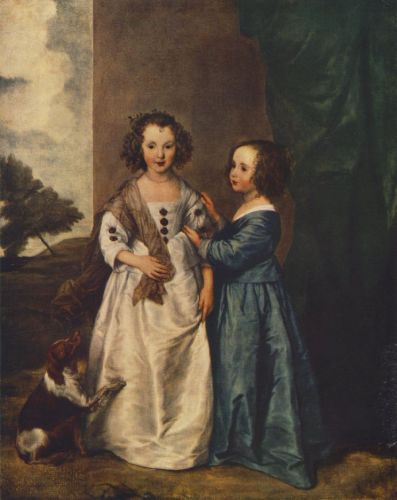 Portrait of Philadelphia and Elisabeth Cary by Anthony van Dyck
