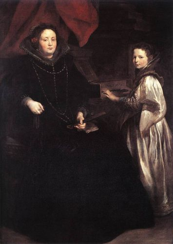 Portrait of Porzia Imperiale and Her Daughter by Anthony van Dyck