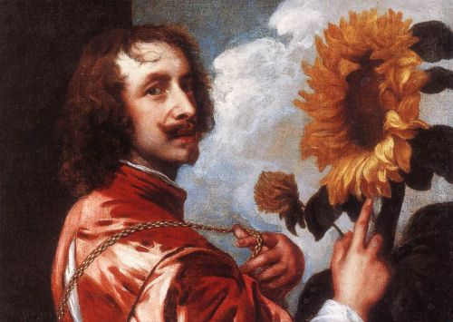 Self-portrait with a Sunflower by Anthony van Dyck