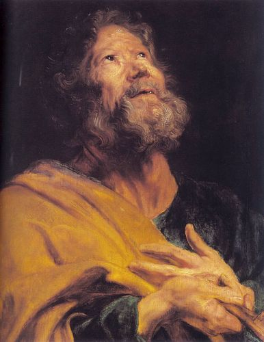 The Penitent Apostle Peter by Anthony van Dyck