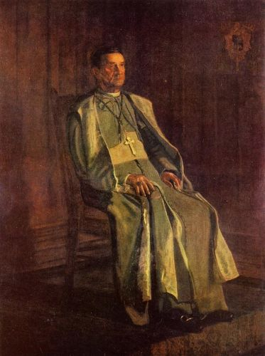 Monsignor Diomede Falconia by Thomas Eakins