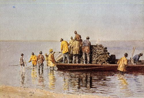 Taking up the Net by Thomas Eakins
