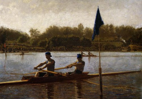 The Biglin Brothers Turning the Stake Boat by Thomas Eakins