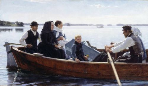 A Child's Funeral by Albert Edelfelt