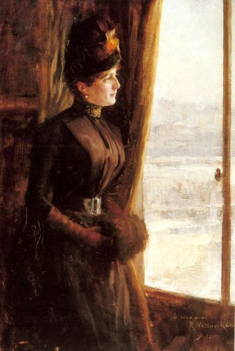 A Portrait of Madame Vallery-Radot by Albert Edelfelt