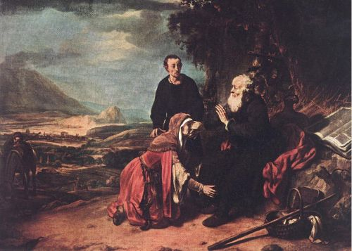 Prophet Eliseus and the Woman of Sunem by Gerbrand van den Eeckhout
