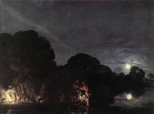 Flight into Egypt by Adam Elsheimer