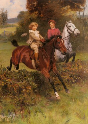 His First Fence by Arthur John Elsley