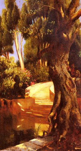 The Staircase Under The Trees by Rudolf Ernst