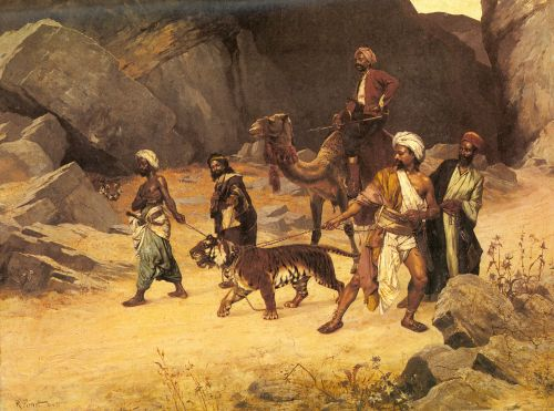 The Tiger Hunt by Rudolf Ernst