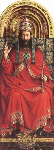The Ghent Altarpiece - God Almighty by Jan van Eyck