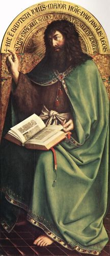 The Ghent Altarpiece - St John the Baptist by Jan van Eyck