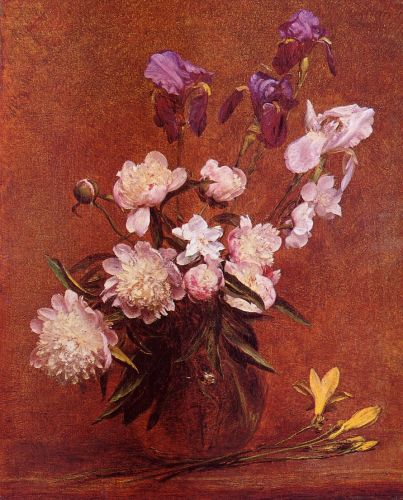Bouquet of Peonies and Iris by Henri Fantin-Latour