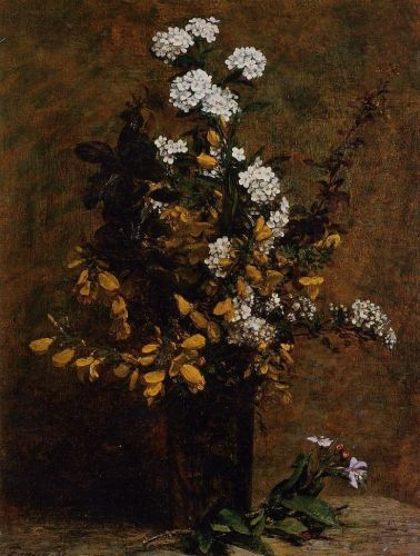 Broom and Other Spring Flowers in a Vase by Henri Fantin-Latour