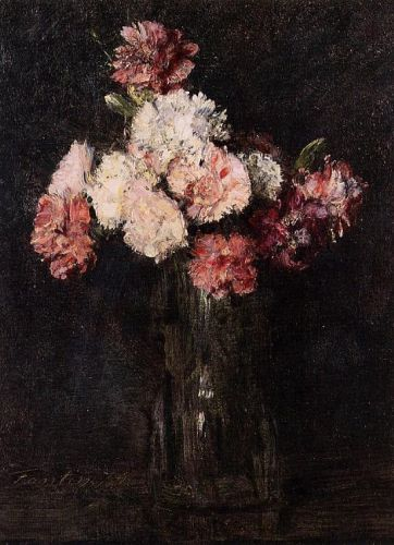 Carnations in a Champagne Glass by Henri Fantin-Latour