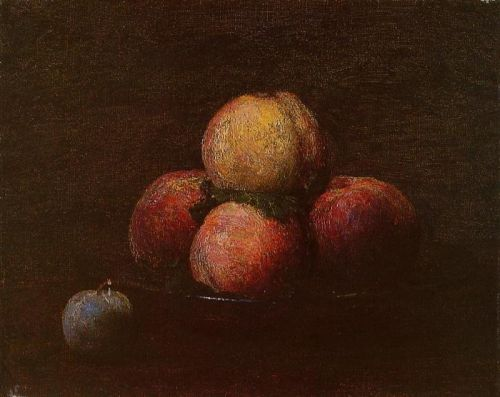 Peaches and a Plum by Henri Fantin-Latour