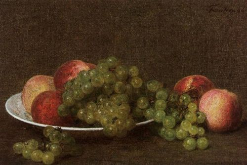 Peaches and Grapes by Henri Fantin-Latour