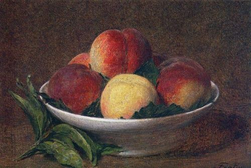 Peaches in a Bowl by Henri Fantin-Latour