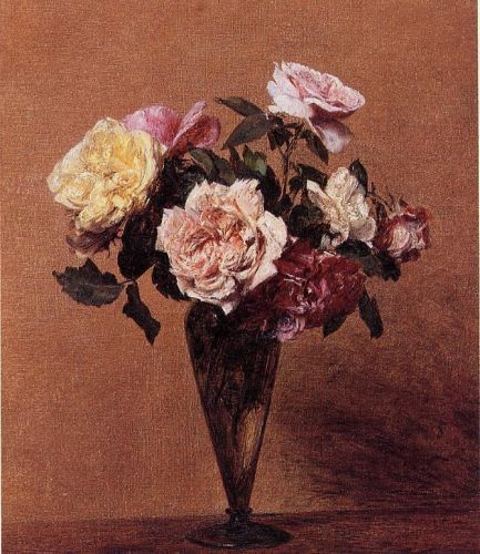 Roses in a Vase by Henri Fantin-Latour