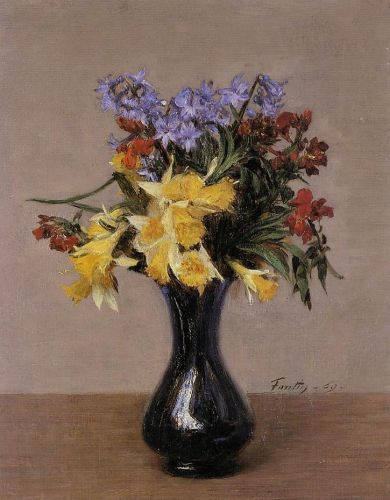 Spring Flowers by Henri Fantin-Latour