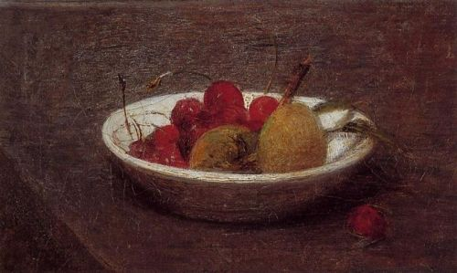 Still Life of Cherries and Almonds by Henri Fantin-Latour