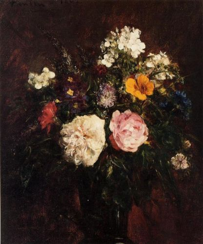 Still Life with Flowers by Henri Fantin-Latour