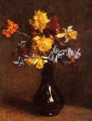 Vase of Flowers by Henri Fantin-Latour