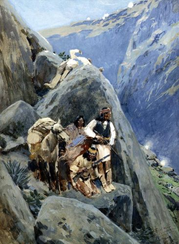 Apache Indians in the Mountains by Henry Farney