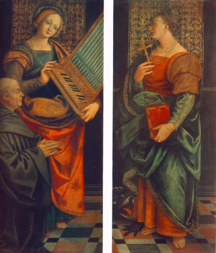 St Cecile with the Donator and St Marguerite by Gaudenzio Ferrari