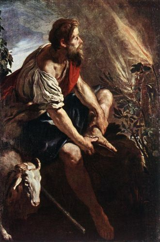 Moses before the Burning Bush by Domenico Fetti