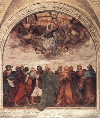 Assumption of the Virgin by Rosso Fiorentino