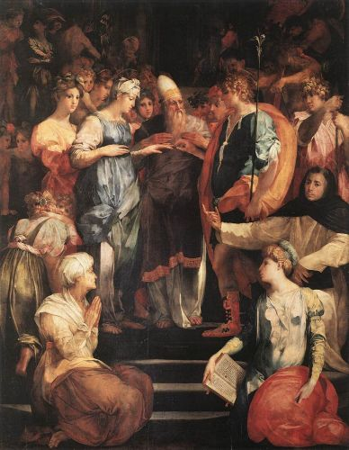 Marriage of the Virgin by Rosso Fiorentino