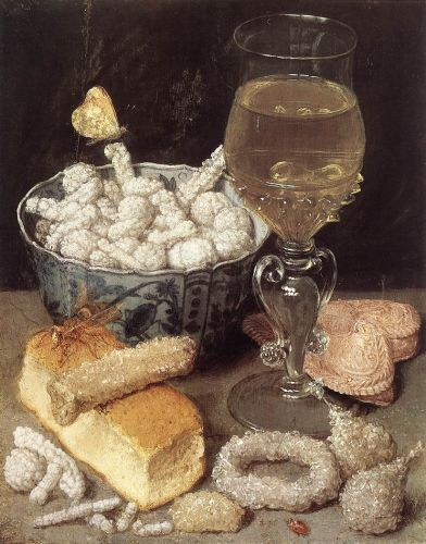 Still-Life with Bread and Confectionary by George Flegel