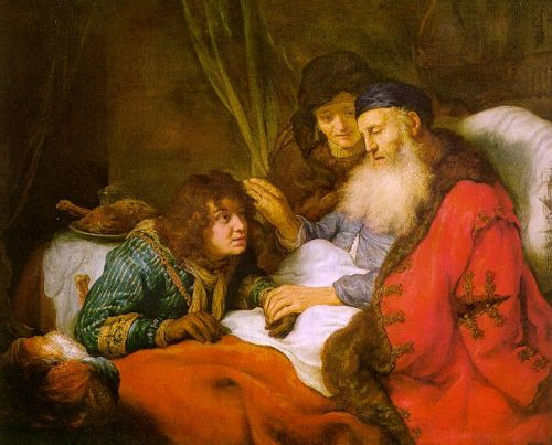 Isaac Blessing Jacob by Govert Teunisz Flinck