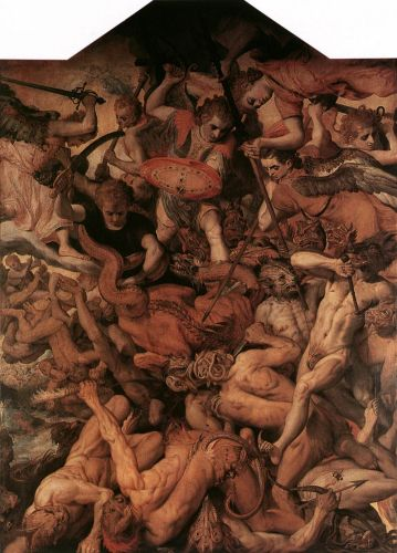 The Fall of the Rebellious Angels by Frans Floris
