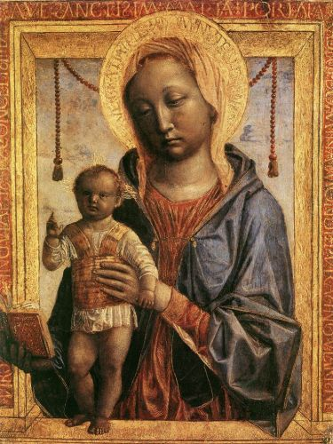 Madonna of the Book by Vincenzo Foppa