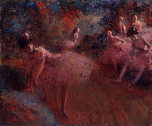 Dancers in Pink by Jean-Louis Forain