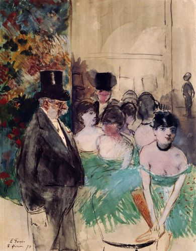 Intermission on Stage by Jean-Louis Forain
