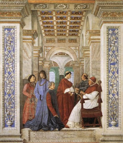 Foundation of the Library by Melozzo da Forlì